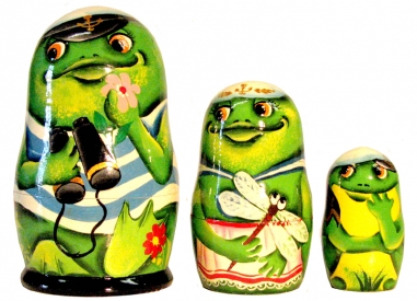 A frog with binoculars