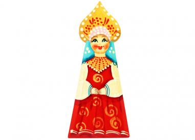 A girl with a kokoshnik (a woman's headdress in old Russia)