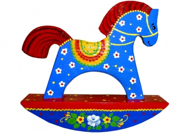 A blue horse
