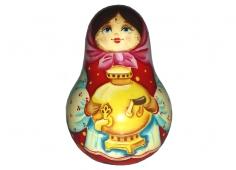 A girl with a samovar