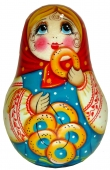 A girl with barankas (ring-shaped rolls)  -