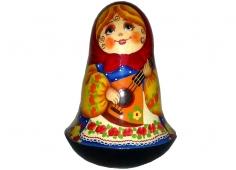 A girl with a balalaika