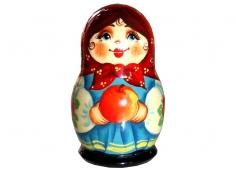 A girl with an apple